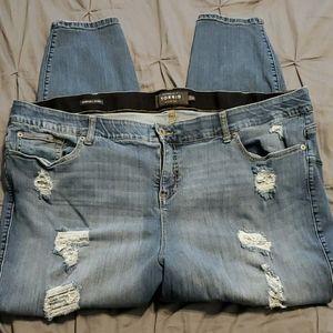 Torrid Distressed Bombshell Skinny Jeans 28